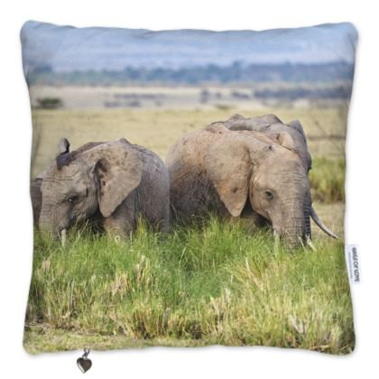Elephants Pillow Set
