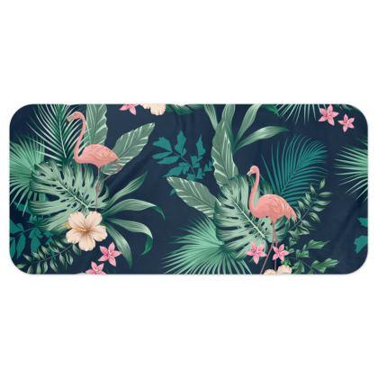 Blanket Scarf Tropical Pink Flamingo