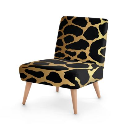Occasional Chair Gold Leopard Print
