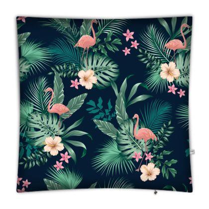 Floor Cushions Tropical Pink Flamingo