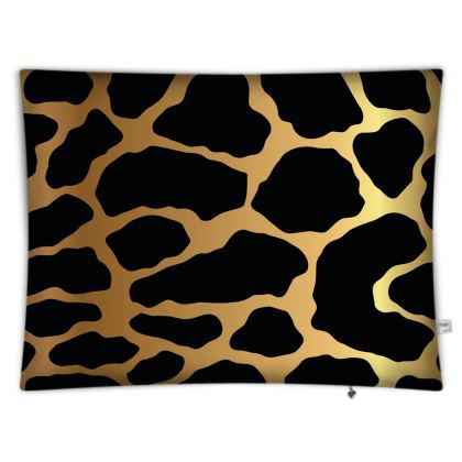 Floor Cushions Gold Leopard Print