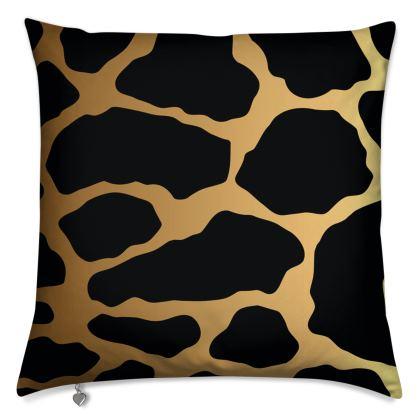 Luxury Cushions Gold Leopard Print