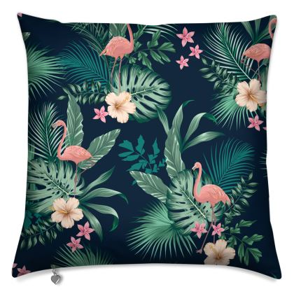 Luxury Cushions Tropical Pink Flamingoes