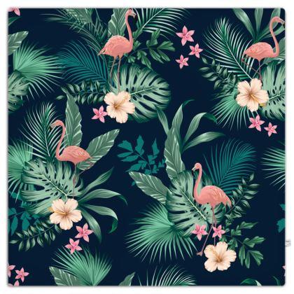Picnic Blanket Tropical Pink Flamingo
