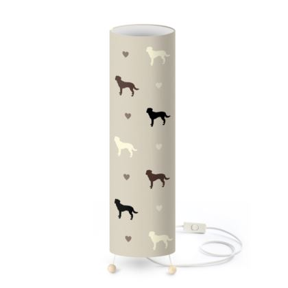 Standing Lamp - Labrador design on stone colour background