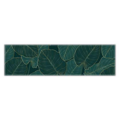 Table Runner Golden Split Leaf