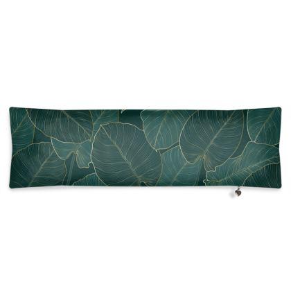 Bolster Cushion Gold Split Leaf