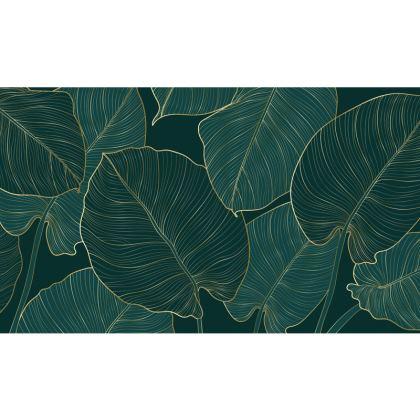 Zip Top Handbag Golden Split Leaf