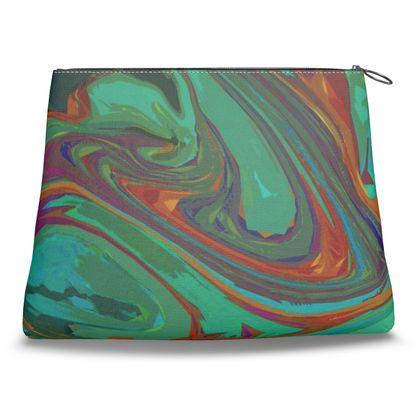 Clutch Bag - Abstract Diesel Rainbow 2