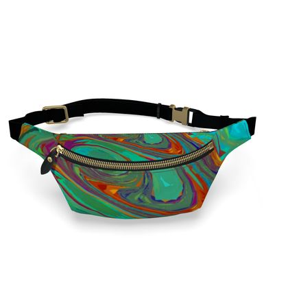Fanny Pack - Abstract Diesel Rainbow 2