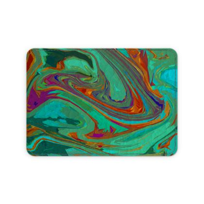 Leather Card Case - Abstract Diesel Rainbow 2