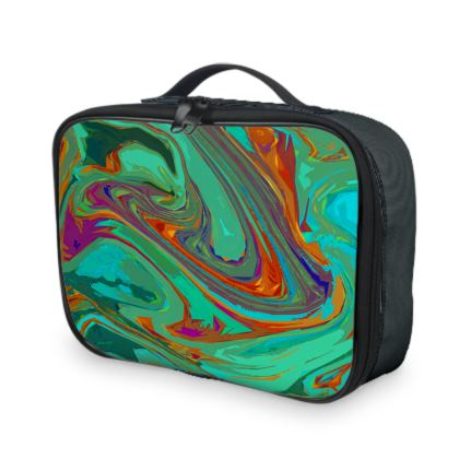 Lunch Bags - Abstract Diesel Rainbow 2