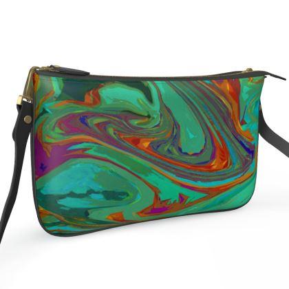 Pochette Double Zip Bag - Abstract Diesel Rainbow 2