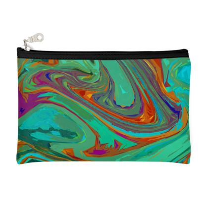 Zip Top Pouch - Abstract Diesel Rainbow 2