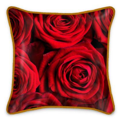 Silk Cushions Valentine Rose