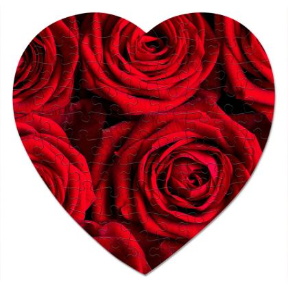 Heart Jigsaw Valentine Rose