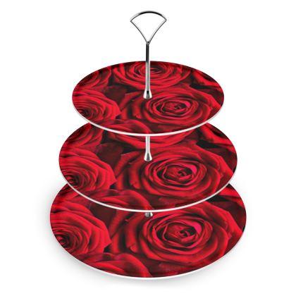 Cake Stand Valentine Rose