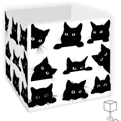 Square Lamp Shade Curious Cats