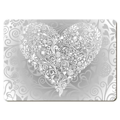 Large Placemats - Love Heart Pattern
