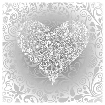Love Heart Pattern Cushion