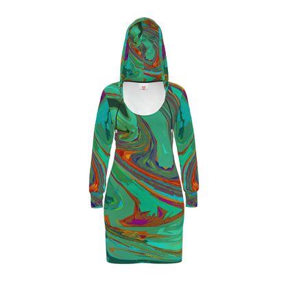 Hoody Dress - Abstract Diesel Rainbow 2