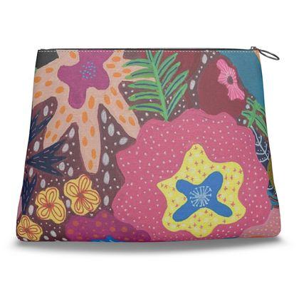 Clutch handbag Secret Garden hand painted floral abstract