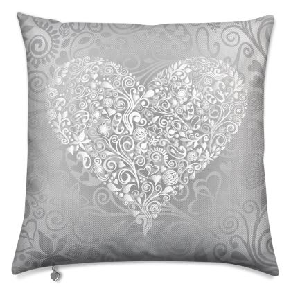 Love Heart Pattern Luxury Cushion