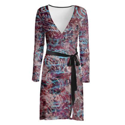 Wrap Dress Watercolor Texture 16