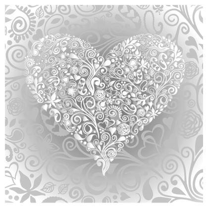 Love Heart Pattern Zip Top Handbag