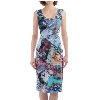 Bodycon Dress Watercolor Texture 12