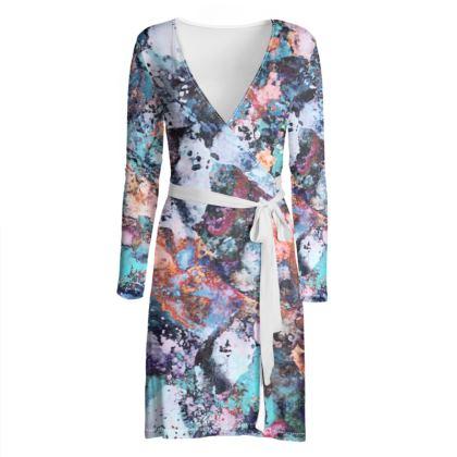 Wrap Dress Watercolor Texture 12