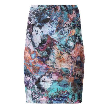 Pencil Skirt Watercolor Texture 12