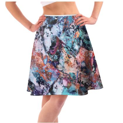 Flared Skirt Watercolor Texture 12