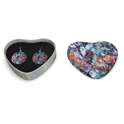 Sterling Silver Earrings Watercolor Texture 12