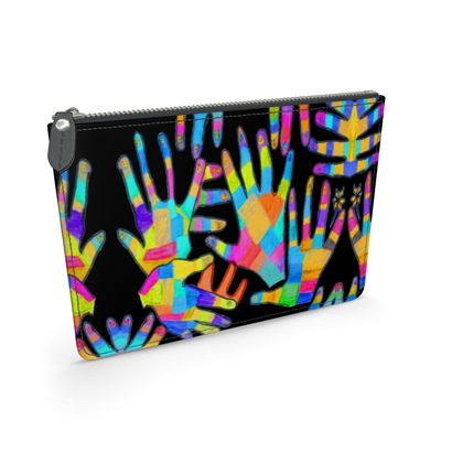 Hands Leather Pouch by Elisavet
