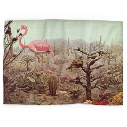 Tea Towel Wild Flamingo