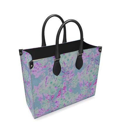 Leather Shopper Bag  Moonlight  Afternoon