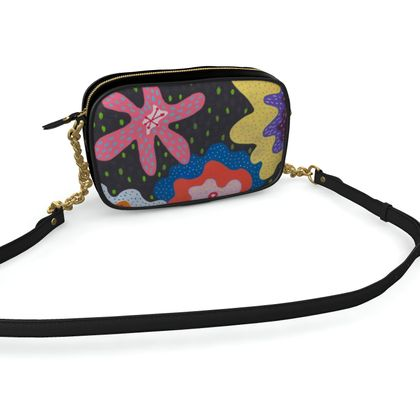 Camera bag Stargazy hand painted abstract pattern