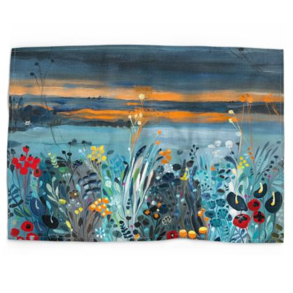 Tea Towel in Natalie Rymer Setting Sun design
