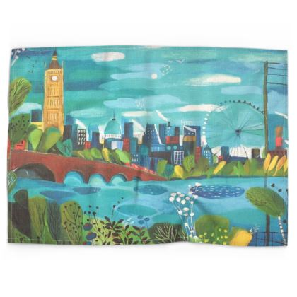 Tea Towel in Natalie Rymer London Calling design
