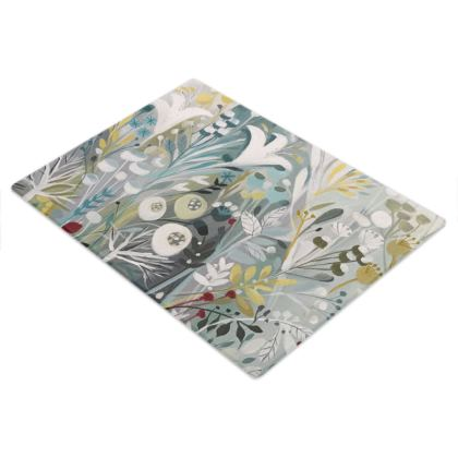 Glass Chopping Board in Natalie Rymer Winter Greys design