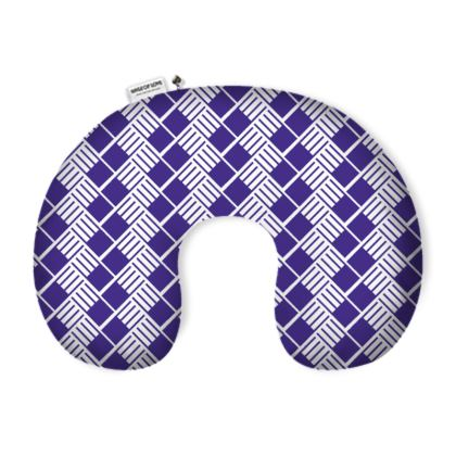 Navy Flow Neck Pillow