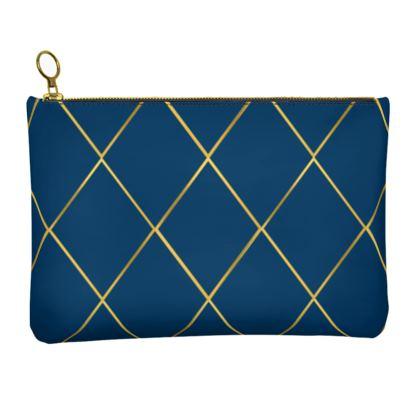 Leather clutch Bag, Diamond Extravaganza