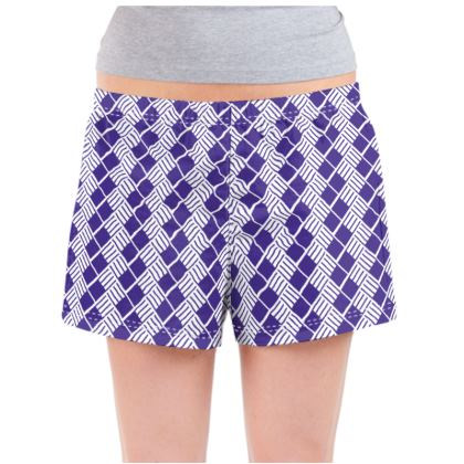 Navy Flow Ladies Pyjama Shorts