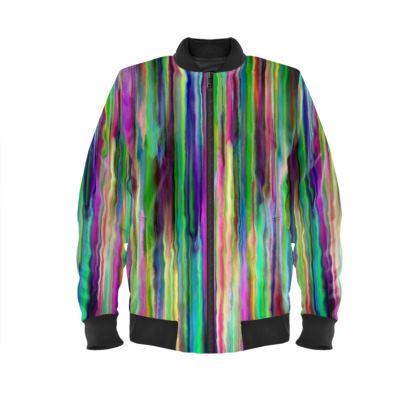 Stripe me Ladies Bomber Jacket