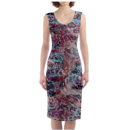 Bodycon Dress Watercolor Texture 16