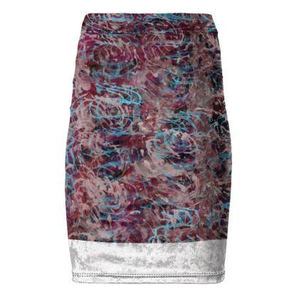 Pencil Skirt Watercolor Texture 16