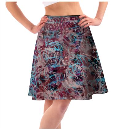 Flared Skirt Watercolor Texture 14