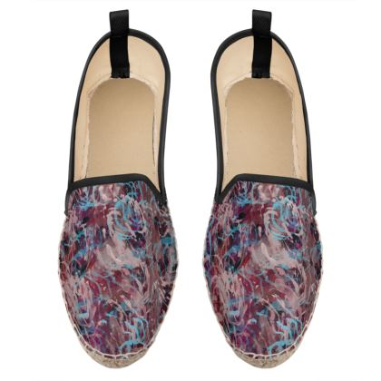 Loafer Espadrilles Watercolor Texture 16