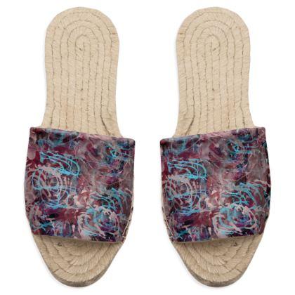 Sandal Espadrilles Watercolor Texture 16